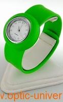 Montre Femme bracelet Clic Clac Softouch Dia 2,8cm vert