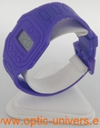 Montre extra plate funny color water resist violet