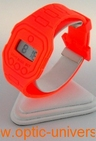 Montre extra plate funny color water resist orange