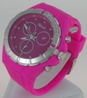 Montre Femme bracelet silicone softouch Dia 4,5 cm rose